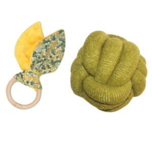 GIFT Set Cadou Mingiuta si Inel de dentitie verde