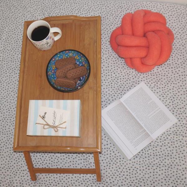 Perna handmade corai