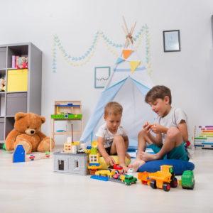 Set Cort de joaca copii Rasete albastre