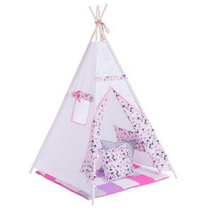 DARE TO DREAM Cort Triunghiuri roz - cort indian pentru copii