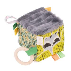 cub de joaca verde cu gri - jucarie dentitie