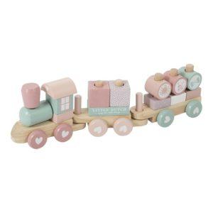 Trenulet roz din lemn