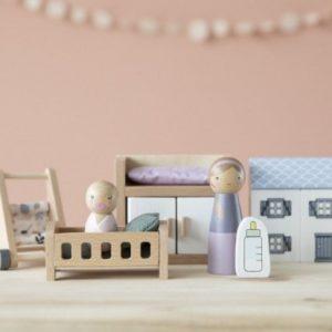 Camera-bebelusului-accesorii-din-lemn-pentru-casuta-de-papusi-Little-Dutch-1