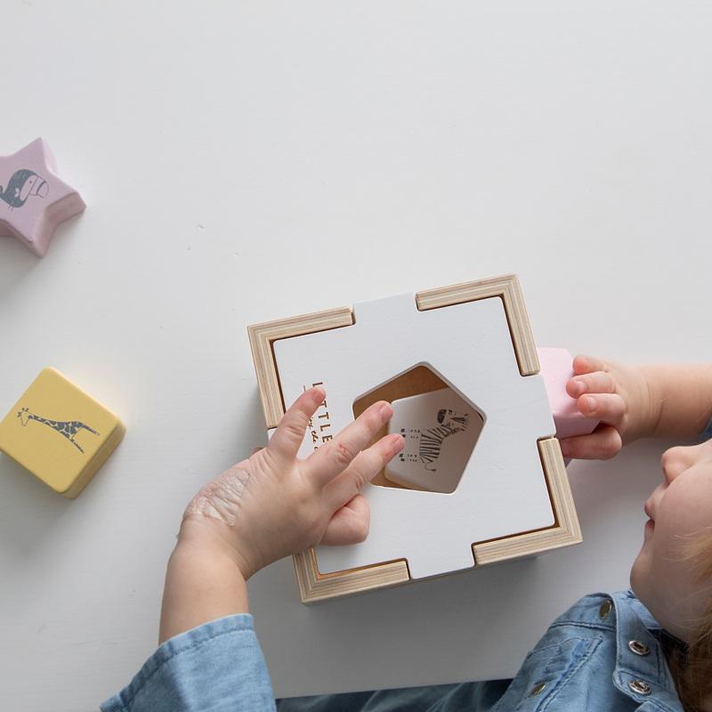 Forme geometrice din lemn copii