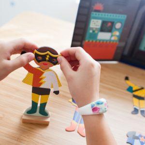 Joc magnetic super-eroi baieti 5 ani