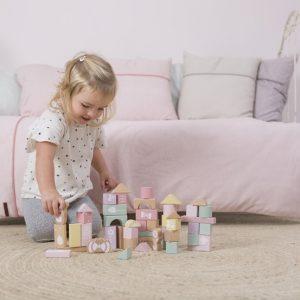 Set de blocuri de constructie roz