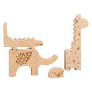 Puzzle-din-lemn-Animale-din-safari-Petit-Collage