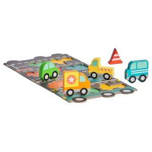 Puzzle si set de joaca Marele Camion - Petit Collage